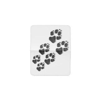 Black dog paw business card holder