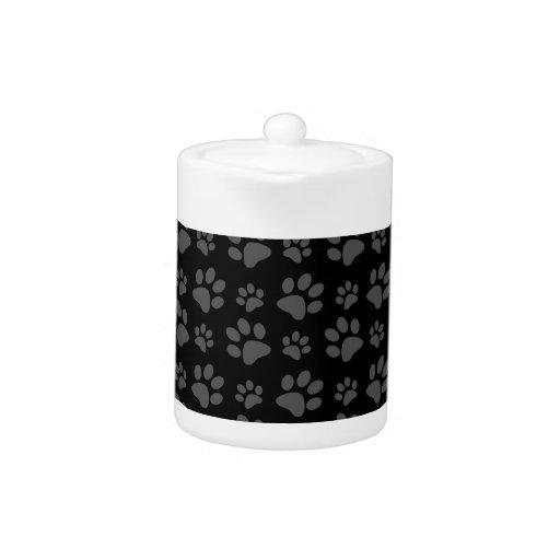 Black dog paw print pattern