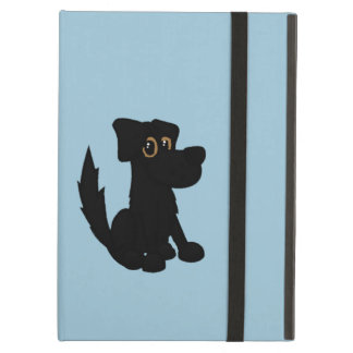 Black Dog Pooch Blue Cover For iPad Air