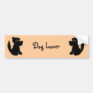 Black Dog Pooch Bumper Sticker