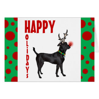 Black Dog Rudolph Cards