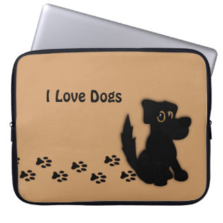 Black Dog Walk Total Custom Laptop Sleeve