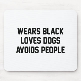 Black Dogs Avoid People Mouse Pad