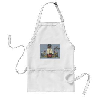 Black Doll and Crows Adult Apron