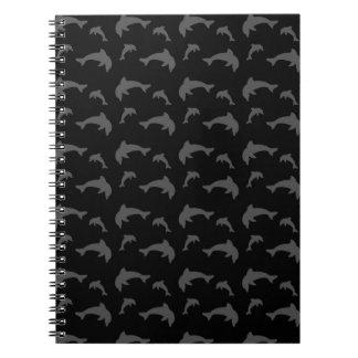 Black dolphins spiral notebook