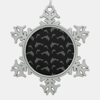 Black dolphins ornaments