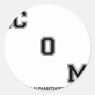 Black Dot COM Classic Round Sticker