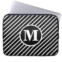 Black Dot DS Monogram Computer Sleeve