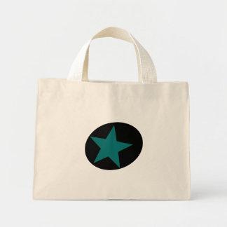 Black Dot Grey Star Mini Tote Bag