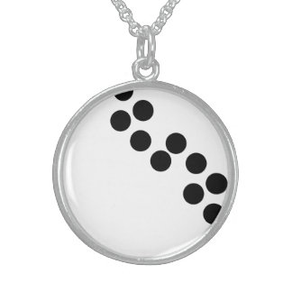 Black Dot Modern Sterling Silver Round Necklace