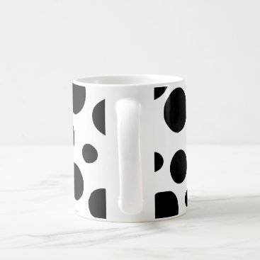 Coffee Themed Black Dots Coffee Mug