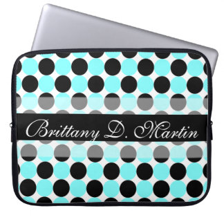 Black Dots Laptop Sleeve (15 - 17 inch)