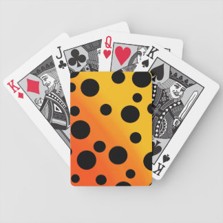 Black Dots On Blended OrangeToYellow Bicycle Playing Cards