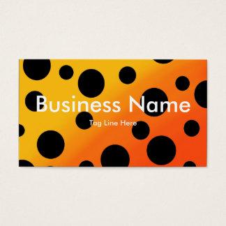 Black Dots On Blended OrangeToYellow Business Card