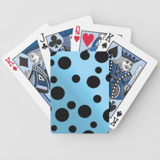 Black Dots On Blended SkyBlue Bicycle Playing Cards