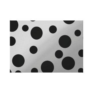 Black Dots On Blending Canvas Print