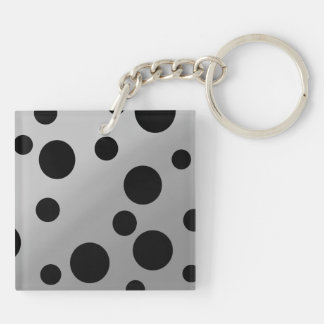 Black Dots On Blending Double-Sided Square Acrylic Keychain
