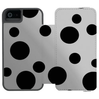 Black Dots On Blending Wallet Case For iPhone SE/5/5s