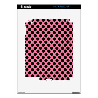 Black Dots on Pink Background Decal For iPad 2