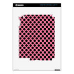 Black Dots on Pink Background iPad 3 Decals