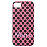 Black Dots on Pink Background iPhone 5 Case