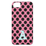 Black Dots on Pink Background iPhone 5C Cover