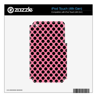 Black Dots on Pink Background iPod Touch 4G Decal