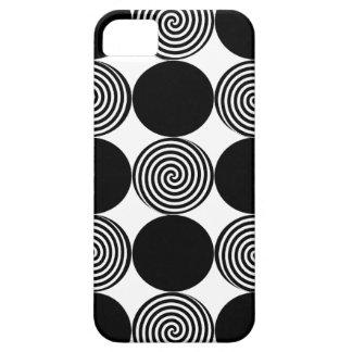 Black Dots & Swirls iphone 5 Case