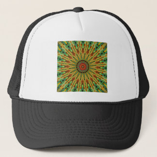 Black Dotted Burst Yellows Trucker Hat