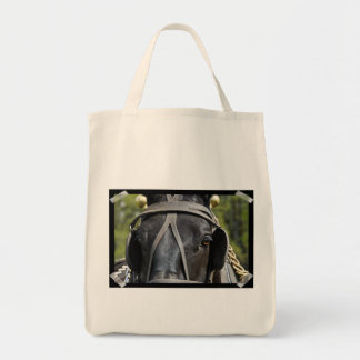 Black Draft Horse  Grocery Tote Bag