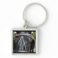 Black Draft Horse  Keychain