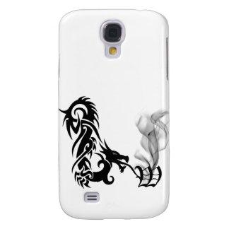 Black Dragon Breath Monogram W 3G  Samsung Galaxy S4 Cover