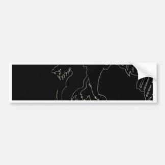 Black Dragon Design by cricketdiane Bumper Stickers