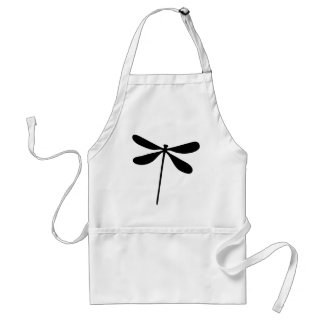 black dragon fly icon adult apron