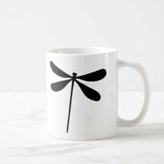 black dragon fly icon coffee mug