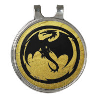 Black Dragon Gold Vein golf hat clip ball marker
