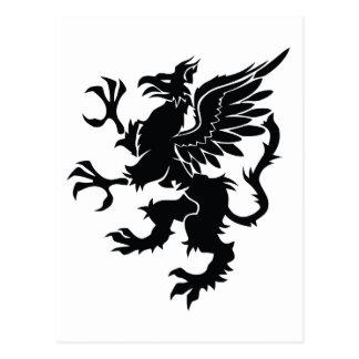 Black dragon Heraldry Postcard