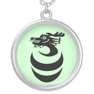 Black Dragon in Egg Necklace