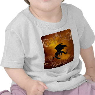 Black dragon in the sky t shirt