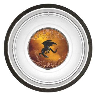 Black dragon in the sky pet bowl
