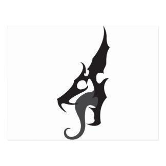 Black Dragon Logo Postcard