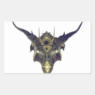 Black Dragon Mask by Cantillon -Sharles Rectangular Sticker