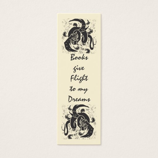 Black Dragon Mini Book Mark Mini Business Card