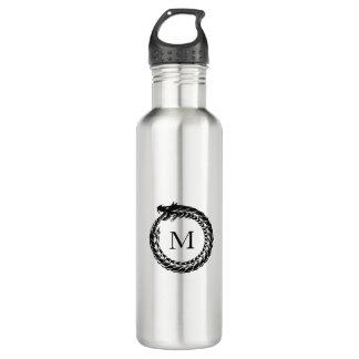 Black Dragon Monogram Stainless Steel Water Bottle