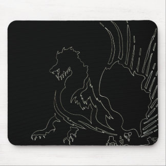 Black Dragon Office Fun CricketDiane Mouse Pad