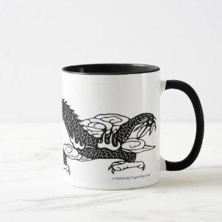 Black Dragon PaperCut Mug Art