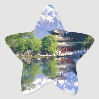 Black Dragon Pool, Lijiang Yunnan,China Star Sticker