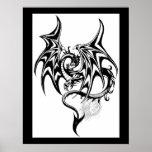 Black-dragon Poster