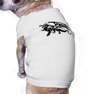 Black Dragon Silhouette Dog Clothes