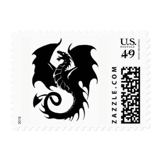 Black Dragon Stamp